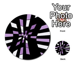 Purple abstraction Multi-purpose Cards (Round)