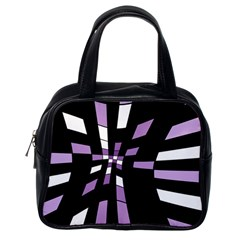 Purple abstraction Classic Handbags (One Side)