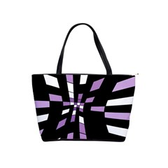 Purple abstraction Shoulder Handbags