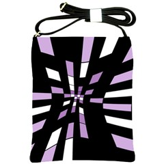 Purple abstraction Shoulder Sling Bags