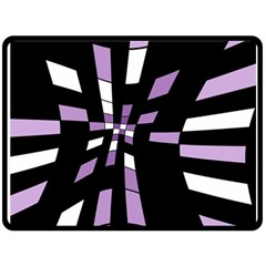 Purple abstraction Fleece Blanket (Large)