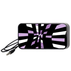 Purple abstraction Portable Speaker (Black)
