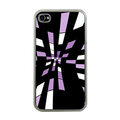 Purple abstraction Apple iPhone 4 Case (Clear)