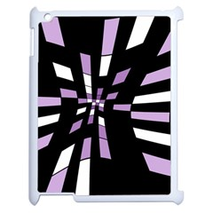 Purple abstraction Apple iPad 2 Case (White)