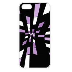 Purple abstraction Apple iPhone 5 Seamless Case (White)