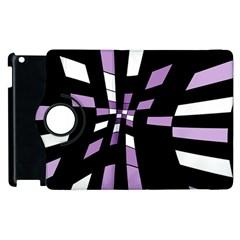 Purple abstraction Apple iPad 2 Flip 360 Case