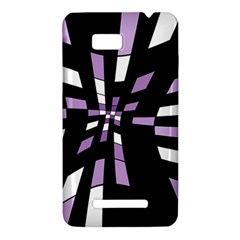 Purple abstraction HTC One SU T528W Hardshell Case