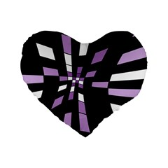 Purple abstraction Standard 16  Premium Heart Shape Cushions