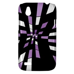 Purple abstraction HTC Desire V (T328W) Hardshell Case