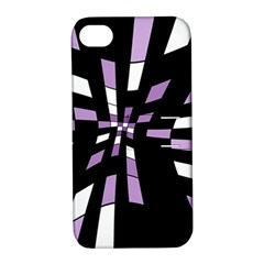 Purple abstraction Apple iPhone 4/4S Hardshell Case with Stand