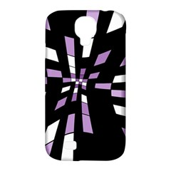 Purple abstraction Samsung Galaxy S4 Classic Hardshell Case (PC+Silicone)