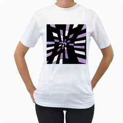 Purple abstraction Women s T-Shirt (White)