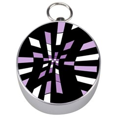Purple abstraction Silver Compasses