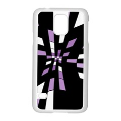 Purple abstraction Samsung Galaxy S5 Case (White)