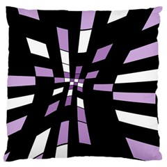Purple abstraction Large Flano Cushion Case (Two Sides)