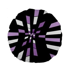 Purple abstraction Standard 15  Premium Flano Round Cushions
