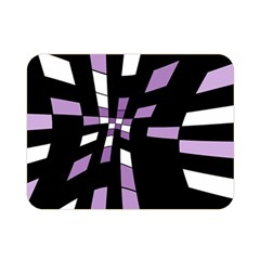 Purple abstraction Double Sided Flano Blanket (Mini)