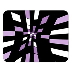 Purple abstraction Double Sided Flano Blanket (Large)