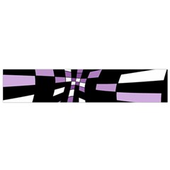 Purple abstraction Flano Scarf (Small)