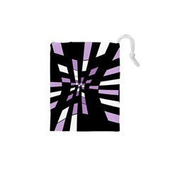 Purple abstraction Drawstring Pouches (XS)