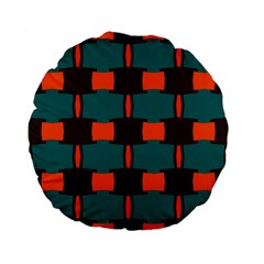3 colors shapes pattern                                                                                  Standard 15  Premium Flano Round Cushion