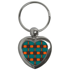 3 colors shapes pattern                                                                                  Key Chain (Heart)