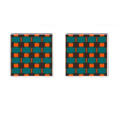 3 colors shapes pattern                                                                                  			Cufflinks (Square)