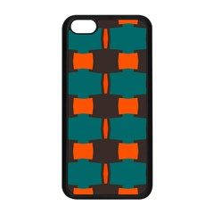 3 colors shapes pattern                                                                                  Apple iPhone 5C Seamless Case (Black)