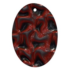 Red grey 3d design                                                                                    			Ornament (Oval)