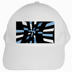 Blue abstraction White Cap