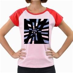 Blue abstraction Women s Cap Sleeve T-Shirt