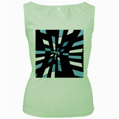 Blue abstraction Women s Green Tank Top
