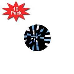 Blue abstraction 1  Mini Magnet (10 pack)