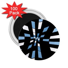 Blue abstraction 2.25  Magnets (100 pack)