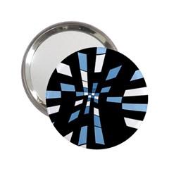 Blue abstraction 2.25  Handbag Mirrors