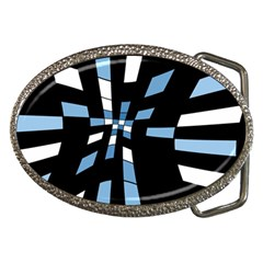 Blue abstraction Belt Buckles