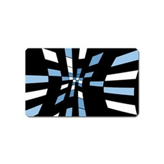 Blue abstraction Magnet (Name Card)