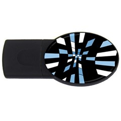 Blue abstraction USB Flash Drive Oval (2 GB)