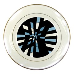 Blue abstraction Porcelain Plates