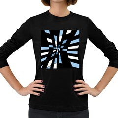 Blue abstraction Women s Long Sleeve Dark T-Shirts