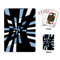Blue abstraction Playing Card