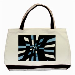 Blue abstraction Basic Tote Bag