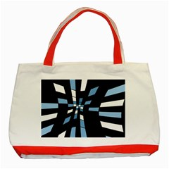 Blue abstraction Classic Tote Bag (Red)