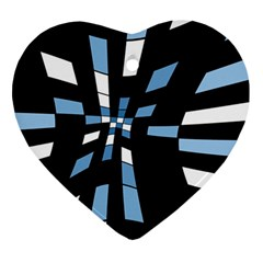 Blue abstraction Heart Ornament (2 Sides)