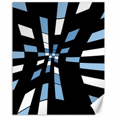 Blue abstraction Canvas 16  x 20