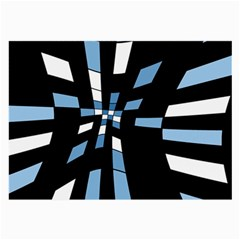 Blue abstraction Large Glasses Cloth