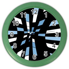 Blue abstraction Color Wall Clocks