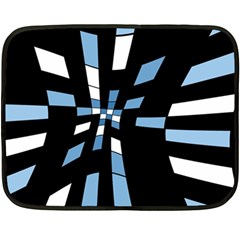 Blue abstraction Fleece Blanket (Mini)