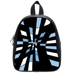 Blue abstraction School Bags (Small)