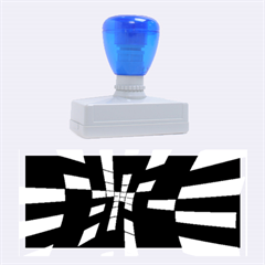Blue abstraction Rubber Stamps (Large)